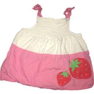 ⭐️ Gymboree 2T Linen Strawberry tank swing top